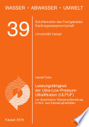 Leistungsfähigkeit der Ultra-Low-Pressure-Ultrafiltration (ULPUF) zur dezentralen Wasseraufbereitung in Not- und Katastrophenfällen