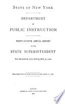 Report of the State Superintendent