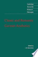 Classic and romantic German aesthetics /