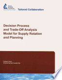 Decision Process and Trade off Analysis Model for Supply Rotation and Planning