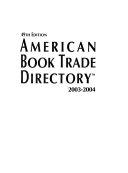 American Book Trade Directory 2003 2004