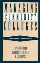 Managing community colleges