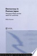 Democracy in Post War Japan