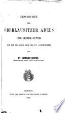 Geschichte des Oberlausitzer Adels und seiner Güter