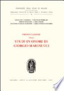 Presentazione degli Studi in onore di Giorgio Marinucci