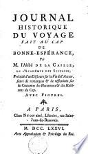 Journal historique du voyage fait au Cap de Bonne-Espérance