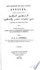 Abū'l-Mah̄āsin ibn Taghri Bardii Annales ...