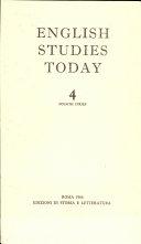 English Studies Today. Fourth Series