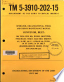 Operator  Organizational  Field  and Depot Maintenance Manual