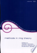 Methods in Ring Theory