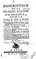 Description de la grande eclipse de soleil  pour la ville de Lyon  Telle qu elle sera vue Dimanche prochain 1 Avril    Par Vinet
