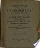 Overblyfsels Van Geheugchenis, Der Bisonderste Voorvallen,