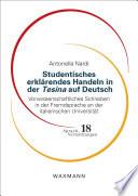 Studentisches erkl  rendes Handeln in der Tesina auf Deutsch