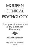 Modern clinical psychology