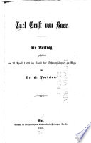 Carl Ernst von Baer