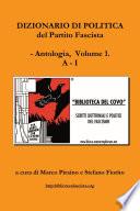 Dizionario di politica del Partito Fascista   Vol  1