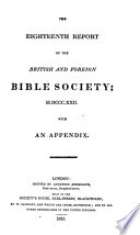 Report of the British and Foreign Bible Society  with Extracts of Correspondence