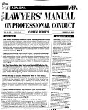 Aba Bna Lawyers Manual On Professional Conduct