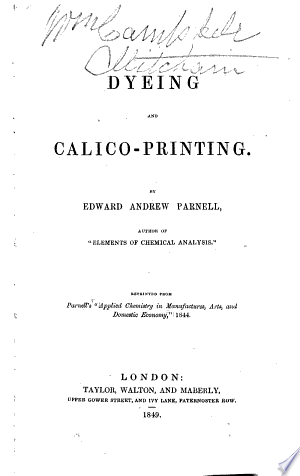 Dyeing and Calico-printing
