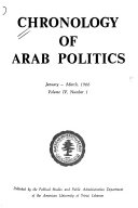 Chronology of Arab Politics