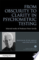 Ebook From Obscurity to Clarity in Psychometric Testing Epub Peter Saville Apps Read Mobile