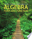 Algebra  Form and Function  2nd Edition