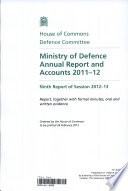 Ministry of Defence Annual Report and Accounts 2012 13