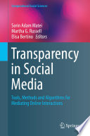 Transparency In Social Media book