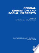 Special Education and Social Interests  RLE Edu M