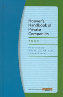 Hoover s Handbook of Private Companies 2000