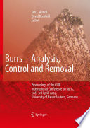 Burrs   Analysis  Control and Removal