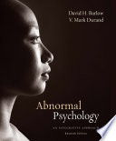 Abnormal Psychology An Integrative Approach