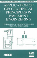 Application of Geotechnical Principles in Pavement Engineering