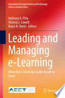 Leading and Managing e Learning