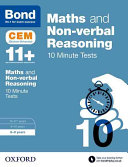 Bond 11+: Maths and Non-Verbal Reasoning 10 Minute Tests 8-9 Years
