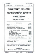 Quarterly Bulletin of the Alpine Garden Society
