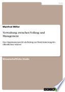 Verwaltung zwischen Vollzug und Management