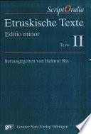Etruskische Texte  Texte