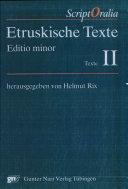 Etruskische Texte: Texte