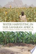 Water Harvesting in Sub Saharan Africa