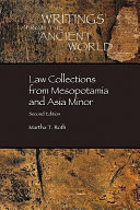 Law collections from Mesopotamia and Asia Minor /