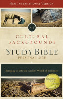 NIV  Cultural Backgrounds Study Bible  Personal Size  Hardcover  Red Letter Edition