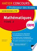 Concours professeur des   coles 2015   Math  matiques Tome 2   Epreuve   crite d admissibilit