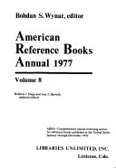 American Reference Books Annual 1977
