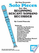 Ebook Solo Pieces for the Beginning Descant/Soprano Recorder Epub COSTEL PUSCOIU Apps Read Mobile