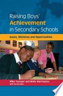 Raising Boys  Achievement In Secondary Schools