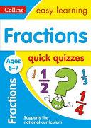Fractions Quick Quizzes Ages 5 7