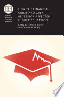How the Financial Crisis and Great Recession Affected Higher Education