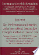Non performance and Remedies Under International Contract Law Principles and Indian Contract Law