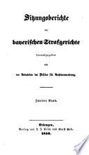 Sitzungsberichte der bayerischen Strafgerichte